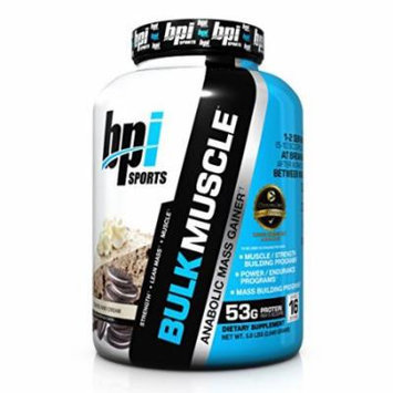 BPI Sports Bulk Muscle Protein Powder, Cookies and Cream, 5.8 Pound