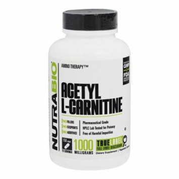 NutraBio - Acetyl-L-Carnitine 500 mg. - 150 Vegetable Capsule(s)