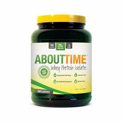 SDC Nutrition About Time Whey Protein Isolate, Unflavored, 2 Pound