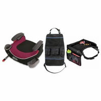 Graco Affix Backless Booster Car Seat with Snack Tray & Backseat Organizer, Callie