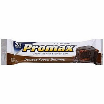 Promax Double Fudge Brownie Energy Bar, 2.64 oz., (Pack of 12)