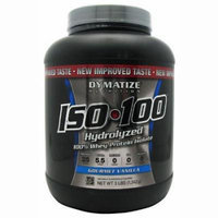 Dymatize Nutrition ISO 100 Whey Protein Powder, Gourmet Vanilla, 3 Pounds