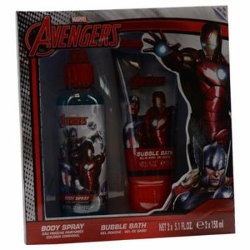 Avengers Set-Body Spray 5 Oz & Shower Gel 5 Oz By Marvel Comics
