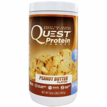 Quest Peanut Butter Flavor Protein Powder, 32 oz., (Pack of 1)
