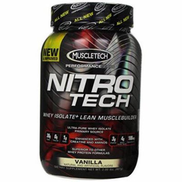 MuscleTech Nitro-Tech Performance Series, Vanilla, 2 lbs