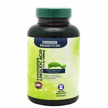 Betancourt Essentials CLA Softgel for Increased Metabolic Rate to Aid in Fat Loss, 90 Count