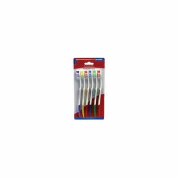 Brush Buddies Adult Toothbrushes Adult Toothbrushes - 6 Pack