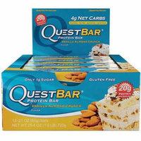 Quest Bar Vanilla Almond Crunch Protein Bar, 2.12 oz., (Pack of 12)