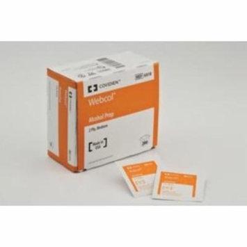 COVIDIEN Alcohol Prep Pad Webcol Isopropyl Alcohol, 70% Individual Packet Medium Sterile (#6818, Sold Per Box)