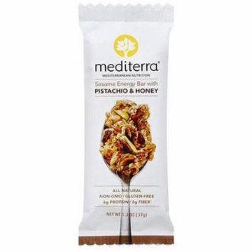 Mediterra Pistachio & Honey Sesame Energy Bar, 1.3 oz, (Pack of 12)