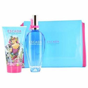 Escada Turquoise Summer Set-Edt Spray 3.4 Oz & Body Lotion 5 Oz & Pouc