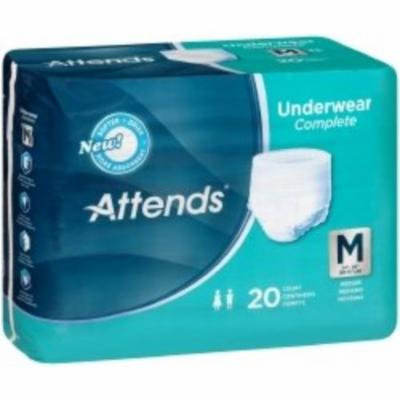 ATTENDS Absorbent Underwear Attends Pull On Medium Disposable Heavy Absorbency (#APP0720, Sold Per Bag)