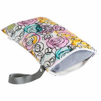 Itzy Ritzy Travel Happens Sealed Wet Bag - Watercolor Bloom