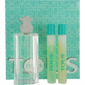 Tous Set-Edt Spray 1.7 Oz & Body Lotion .5 Oz & Shower Gel .5 Oz By To