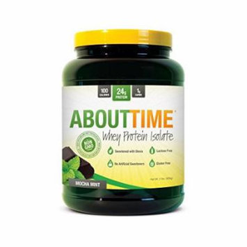 SDC Nutrition About Time Whey Protein Isolate Powder, Mocha Mint, 2 Pound