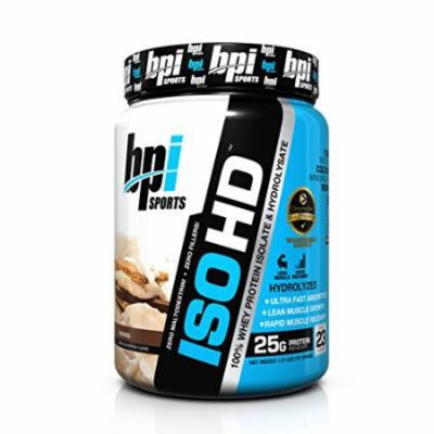 BPI Sports ISO HD 100% Whey Protein Isolate and Hydrolysate Powder, S'mores, 1.61 Pound