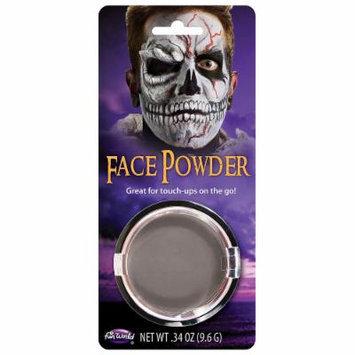 Pressed Powder Compact Adult Costume Makeup Grey