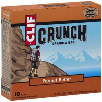 Clif Crunch Peanut Butter Granola Bar, 7.4 oz, (Pack of 12)