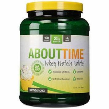 SDC Nutrition About Time Whey Protein Isolate Powder, Birthday Cake, 2 Pound
