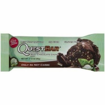 Quest Bar Mint Chocolate Chunk Protein Bar, 2.12 oz., (Pack of 12)