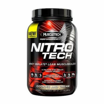 Muscletech Nitrotech Performance Series, Cookies and Cream, 2 Pounds