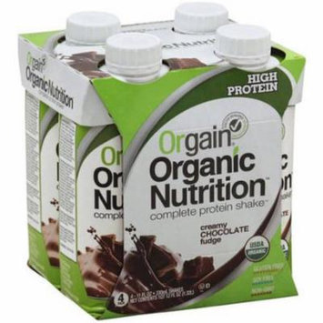 Orgain Organic Nutrition Creamy Chocolate Fudge Complete Protein Shake, 11 fl oz, 4 Pack, (Pack of 12)