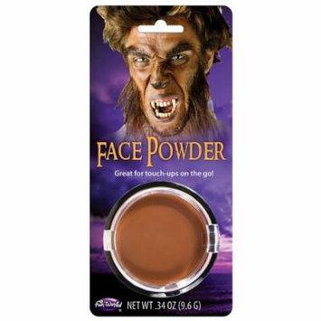 Pressed Powder Compact Adult Costume Makeup Brown
