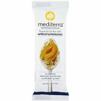 Mediterra Apricot & Pistachio Yogurt & Oat Bar, 1.6 oz, (Pack of 12)
