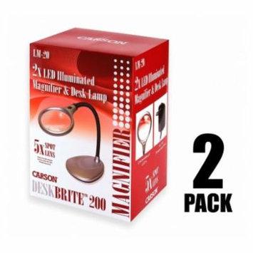 Carson Desk Brite 200 5x Magnifier Desk Lamp, Silver,