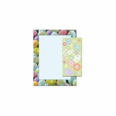 Great Papers 2010247 Painted Easter Eggs Letterhead - 80 Sheets/Pack