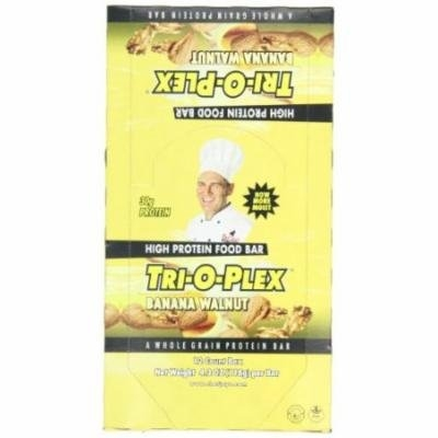Tri-O-Plex High Protein Food Bar, Banana Walnut, 4.2 Ounce Bar, 12-Count