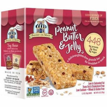 Bakery On Main Peanut Butter & Jelly Granola Bar, 6 oz, (Pack of 12)