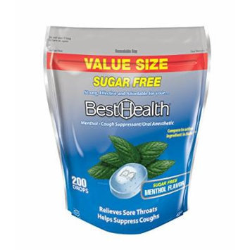 BestHealth Sugar-Free Cough Drops, Menthol, 200 Count