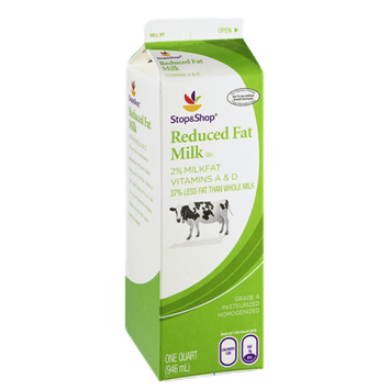 Stop & Shop Reduced Fat 2% Milk
