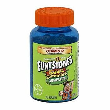 Bayer Flintstones Complete Sour Gummies, 70 Count, pack of 2