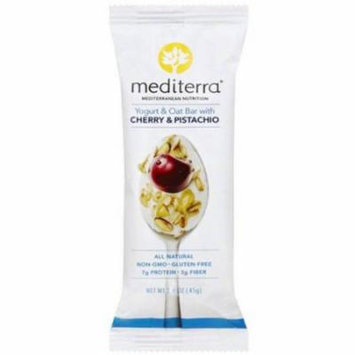 Mediterra Cherry & Pistachio Yogurt & Oat Bar, 1.6 oz, (Pack of 12)