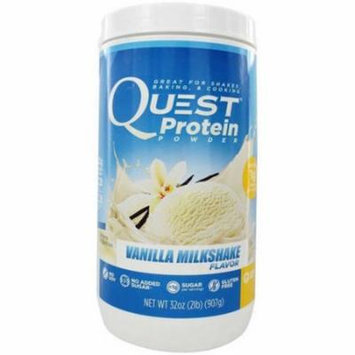 Quest Vanilla Milkshake Flavor Protein Powder, 32 oz., (Pack of 1)