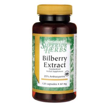 Swanson Bilberry Extract (Standardized) 60 mg 120 Caps