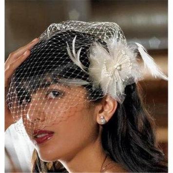 Weddingstar 8969 Feather & Chiffon Floral Hair Accessory