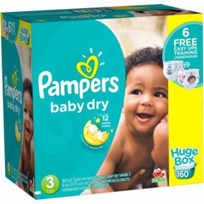 Pampers Baby Dry Diapers, Size 3 (Choose Diaper Count)