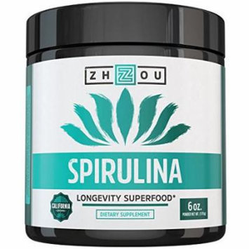 Non-GMO Spirulina Powder - Sustainably Grown in California - Highest Quality Spirulina on Earth - 100% Vegetarian, Gluten Free & Non-Irradiated - Perfect for Mixing in Smoothies, Juices & More