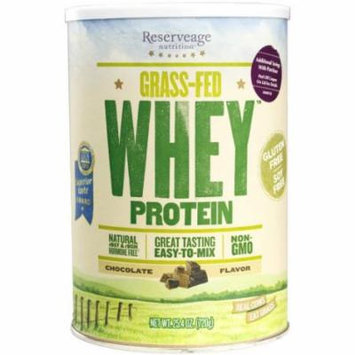 Reserveage - Grass Fed Whey Protein, Minimally Processed with High Biological Value, Chocolate, 25.4 ounces