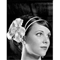 Weddingstar 8968 White Satin Wrapped Headband - Single