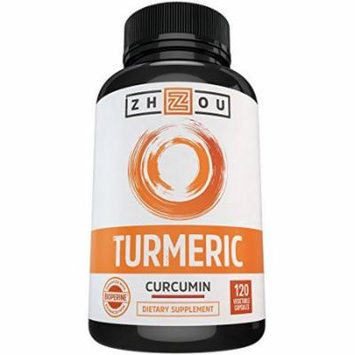 Turmeric Curcumin with Bioperine to Support Joint Comfort & Mobility - Natural Antioxidant with Black Pepper Extract for Superior Absorption - Extract Standardized to 95% Curcuminoids, 120 Capsules