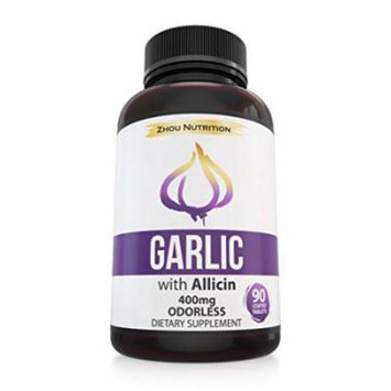 Premium Garlic with Allicin for Intense Immunity Support & Heart Health - Enteric Coated Tablets for Easy Swallowing - Maximum Strength 400mg - Experience the Allicin Difference - 3 Month Supply