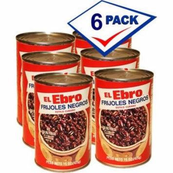 El Ebro Black Beans 15 oz Pack of 6