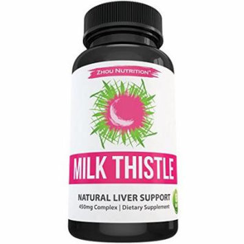 Milk Thistle Standardized Silymarin Extract for Maximum Liver Support - Detox ▫ Cleanse ▫ Maintain - Extract & Seed Powder Blend - 60 Tablets
