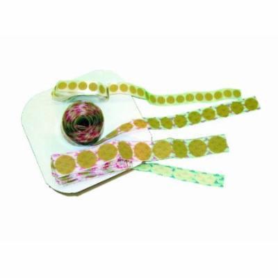 Velcro self-adhesive tabs, circular 1-3/8
