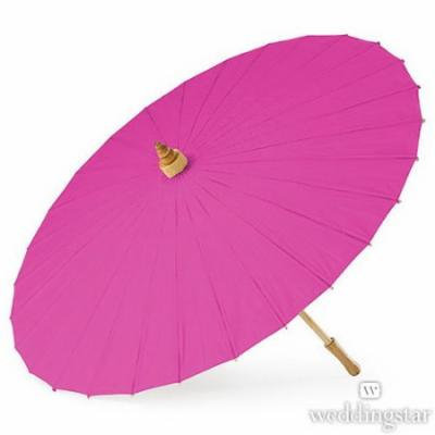Weddingstar 43017-50 Paper Parasol - Raspberry