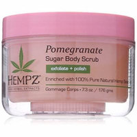 Hempz Herbal Sugar Body Scrub, Light Pink, Pomegranate, 7.3 Fluid Ounce
